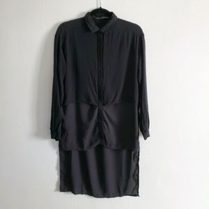 Black Hi Lo Blouse - US M